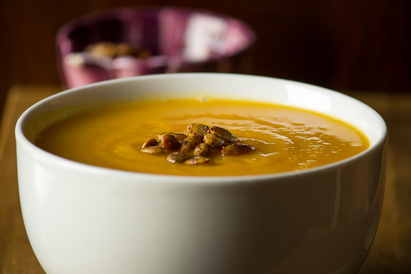 Gingery Butternut Carrot Soup