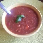 Summer Garden Gazpacho (Paleo, Gluten-Free, Dairy-Free)