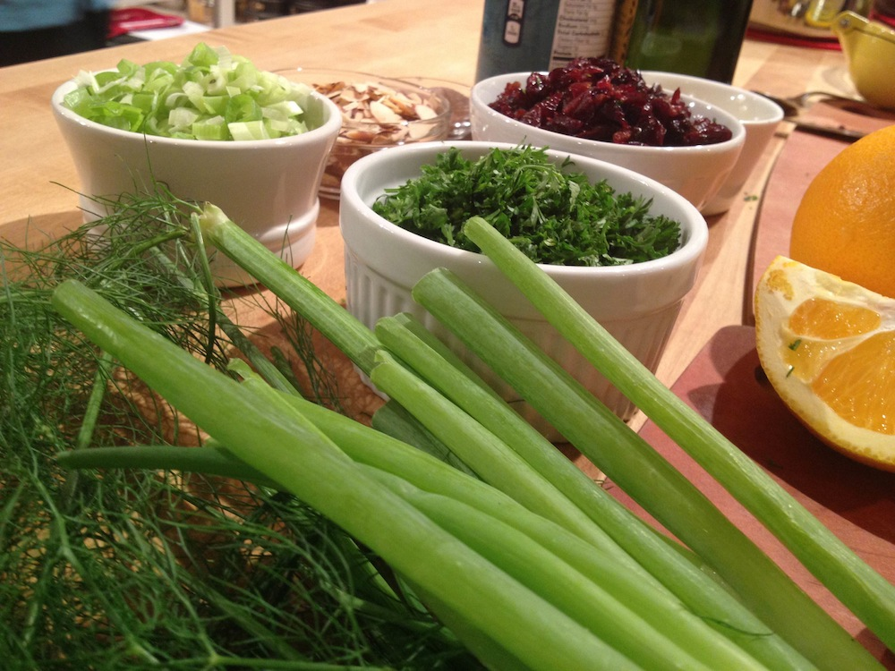 veggies - measured ingredients