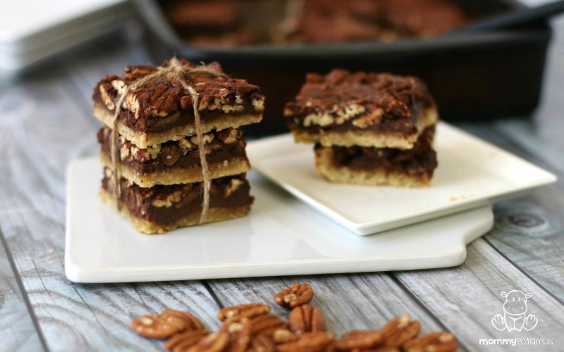 chocolate-pecan-pie-bars-gluten-free-paleo Gluten-Free, Paleo, Healthy Thanksgiving Recipes