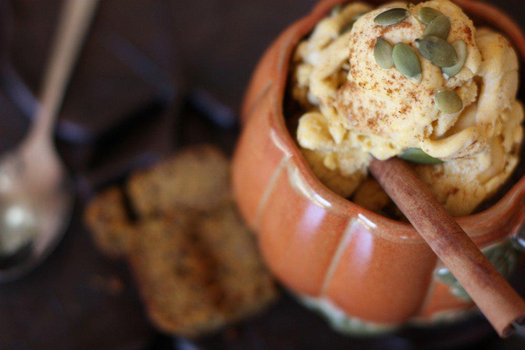 Gluten-Free, Paleo, Healthy Thanksgiving Recipes vegan pumpkin ice cream