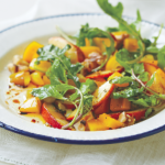 Magical Peach Arugula Salad by Amie Valpone of The Healthy Apple