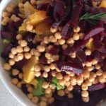 Simple Salad with Beets, Citrus, Chickpeas and Balsamic Dressing