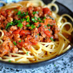 Simple Bolognese Pasta With Secret Ingredient To Combat Fatigue {Paleo, Gluten-Free,}